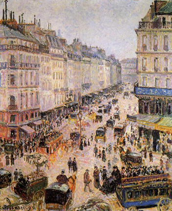 "Pissarro: ""Rue Saint-Lazare"" $ 6,6 million at Sotheby's November 7, 2001, 7 PM"